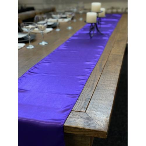 Table Runner, Satin 2.6m, Purple