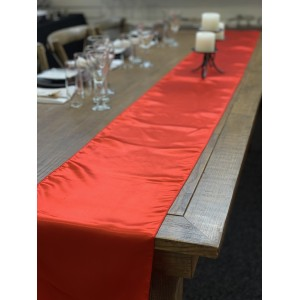 Table Runner, Satin 2.6m, Red