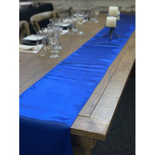 Table Runner, Satin 2.6m, Royal Blue