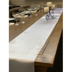 Table Runner, Satin 2.6m, White