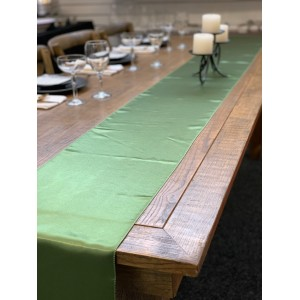 Table Runner, Satin 2.6m, Willow