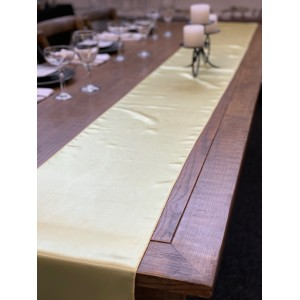 Table Runner, Satin 2.6m, Yellow