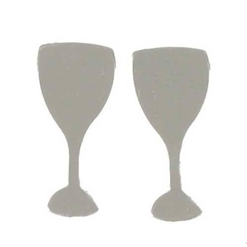 Scatter Confetti Champagne Glass Silver