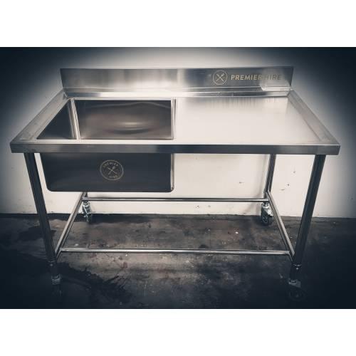 Sink & Bench With Splashback Single