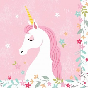 Unicorn Napkins 20pk