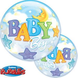 Bubble Balloon Baby Boy Starts & Moon