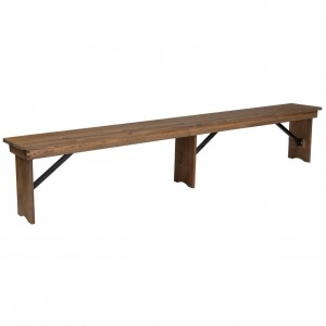 Rustic Farm Style Bench Seat Hire