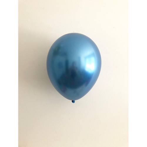 Balloon Single Chrome Blue