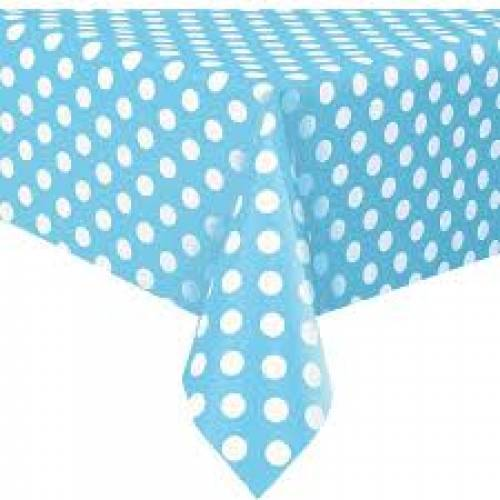 Table Cover Rectangle - Dots Powder Blue