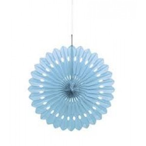 Tissue Paper Fan Pale Blue - 40cm