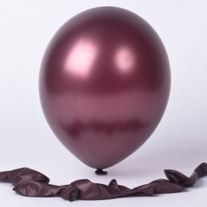 Balloon Single Metallic Burgundy