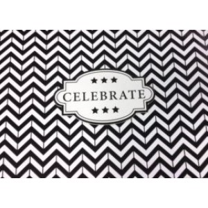 Keepsake Memory Book Black Chevron