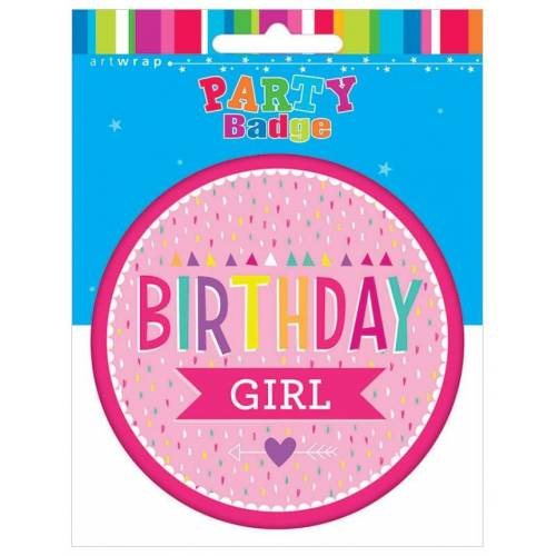 Badge Large Birthday Girl
