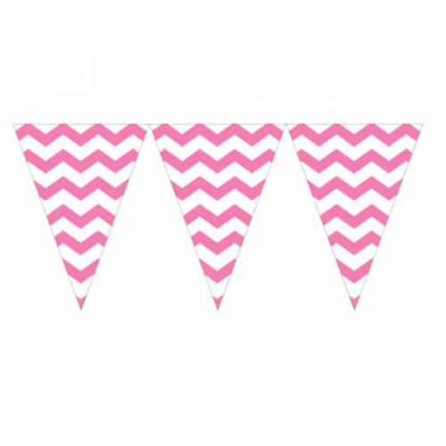 Bunting Banner Flag - Chevron Pink