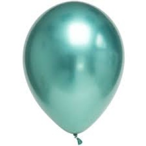 Balloon Single Chrome Green