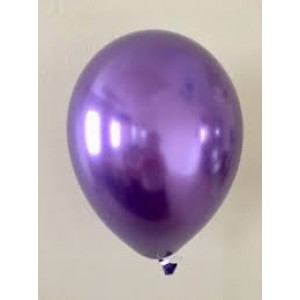 Balloon Single Chrome Purple