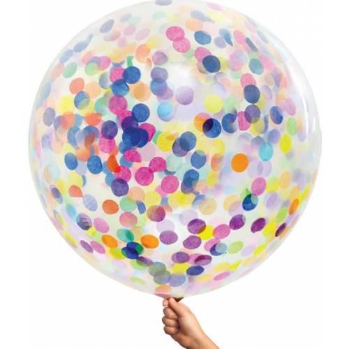 Large Single Confetti Balloon 90cm - Multi