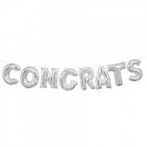 "Foil Balloon Banner ""CONGRATS"" *air fill only"