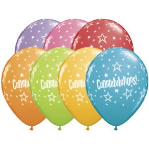 Balloon Single Congratulations Stars