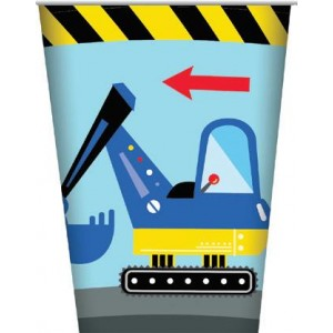 Construction Party Paper Cups 8pk