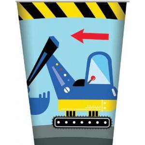 Construction Party Paper Cups 8pk