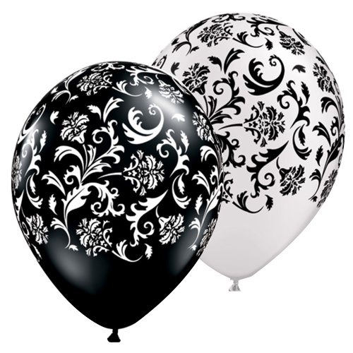 Balloon Single Damask Assorted