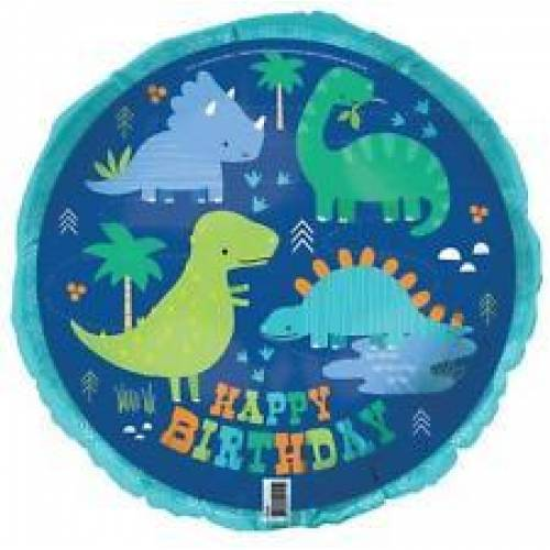 Dino-Roar 'Happy Birthday' Foil Balloon