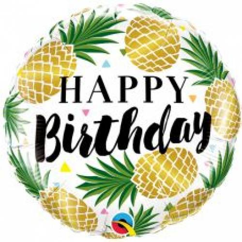 "Foil Balloon 18"" Happy Birthday -Pineapple"