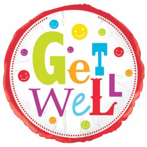 "Foil Balloon 18"" Get Well"