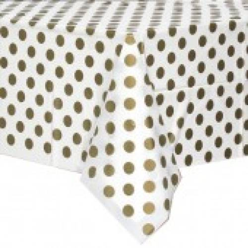 Table Cover Rectangle - Gold Dots