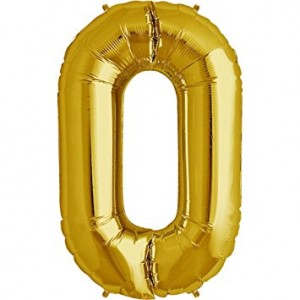 Foil Balloon Number Gold