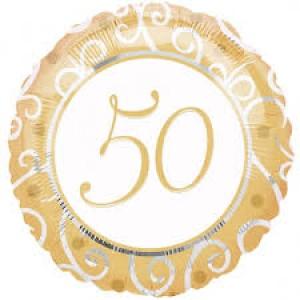 Foil Balloon Gold 50