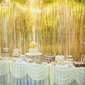 Foil Fringe Curtain Gold 910mm x 2.4m