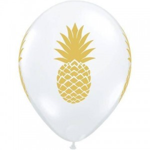 Balloon Single Gold Pineapple