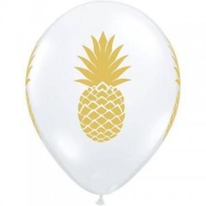 Balloon Single Gold Pineapple