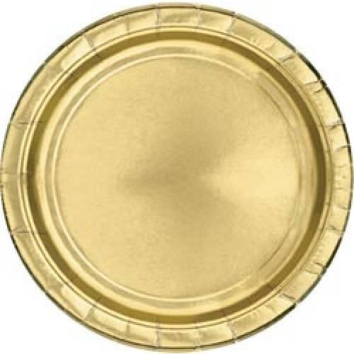 Gold Foil 22cm Paper Plates 8pk