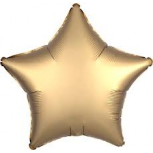 Foil Balloon Luxe Gold Sateen Star
