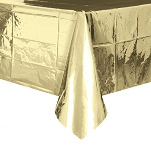 Table Cover Rectangle - Metallic Gold