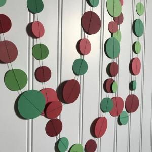 Dot Garland - Red & Green