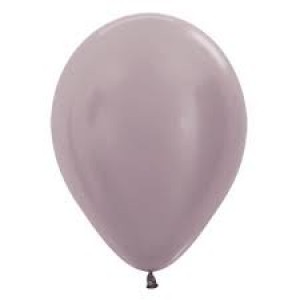 Balloon Single Metallic Pearl Greige Silver