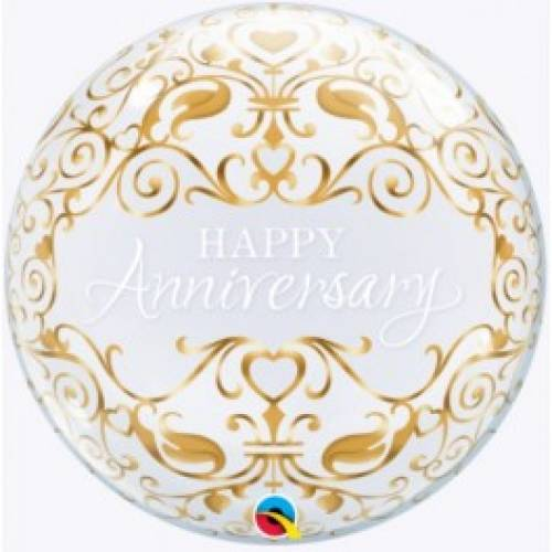 "Bubble Balloon 22"" Happy Anniversary"