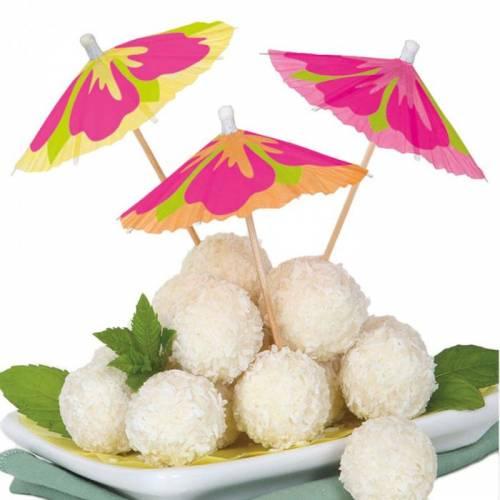Hibiscus Cocktail Parasols/Umbrellas 10pk