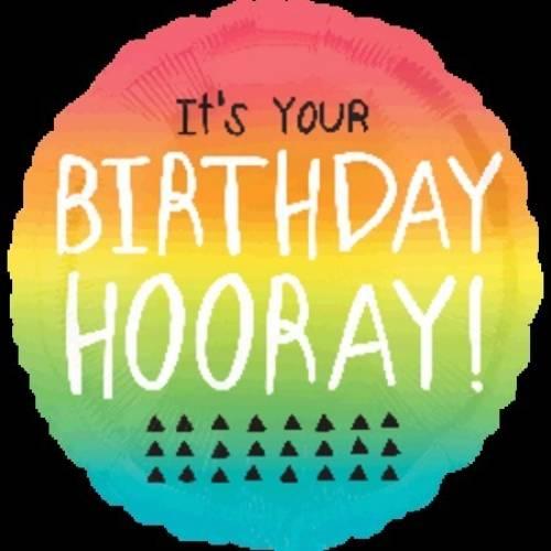 "Foil Balloon 18"" It's Your Birthday Hooray"