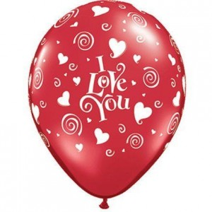 Balloon Single Hearts - I Love You