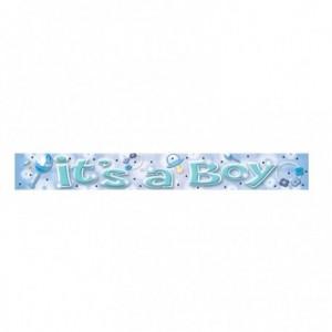 Blue It's A Boy Banner