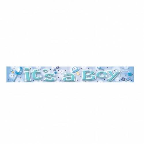 Blue It's A Boy Banner