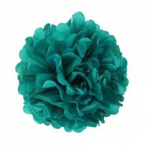 Tissue Paper Pom Pom 40cm - Teal