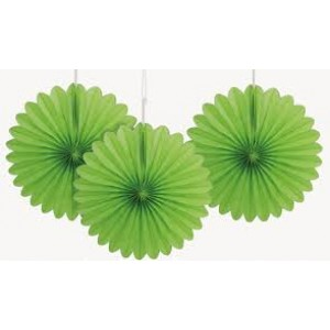 Tissue Paper Fan lime - 25cm