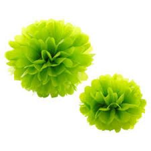 Tissue Paper Pom Pom 30cm - Lime