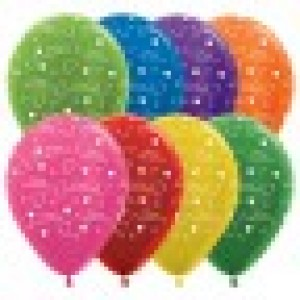 Balloon Single Happy Anniversary Hearts Metallic Assorted